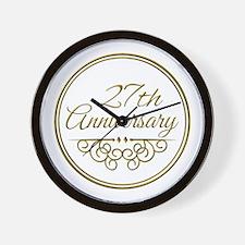 27th Anniversary Wall Clock