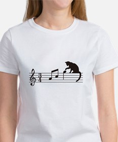 A Cat Toying with Notes T-Shirt