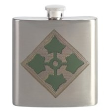 Fourth Infantry Div. Flask