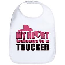 My Heart Belongs To A Trucker Bib