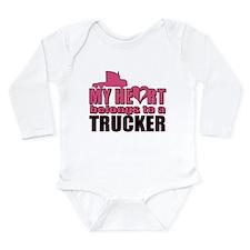 My Heart Belongs To A Long Sleeve Infant Bodysuit