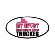 My Heart Belongs To A Trucker Patches