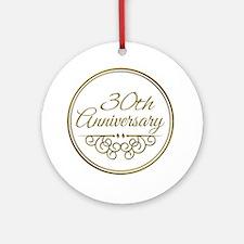 30th Anniversary Ornament (Round)