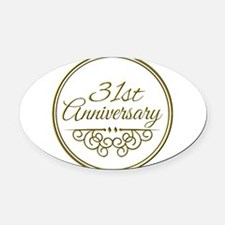 31st Anniversary Oval Car Magnet