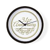 31st anniversary Wall Clocks