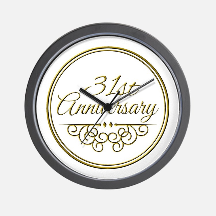 31st Anniversary Wall Clock