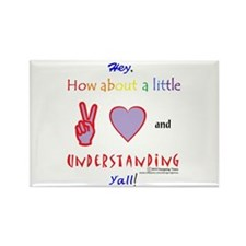 Peace, Love And Understanding Rectangle Magnet