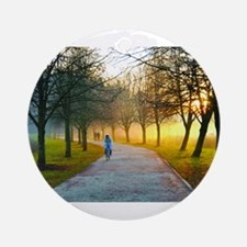 Jogging morning Ornament (Round)