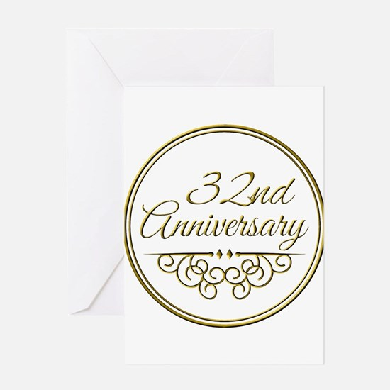 32nd Anniversary Greeting Cards
