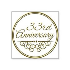 33rd Anniversary Sticker
