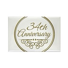 34th Anniversary Magnets