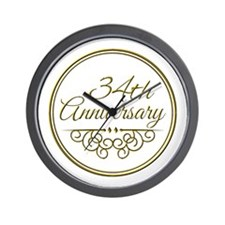 34th Anniversary Wall Clock