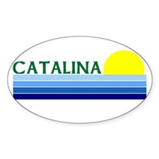 Catalina Island, California Oval Decal