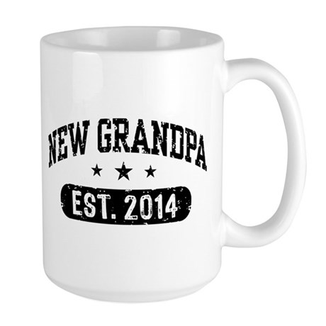 New Grandpa Est. 2014 Mugs