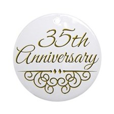 35th Anniversary Ornament (Round)