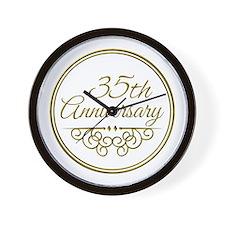 35th Anniversary Wall Clock