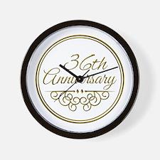 36th Anniversary Wall Clock