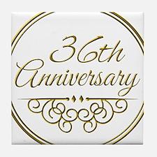 36th Anniversary Tile Coaster