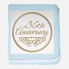 36th Anniversary baby blanket