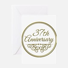 37th Anniversary Greeting Cards