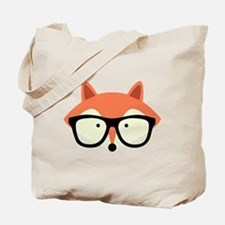 Hipster Red Fox Tote Bag