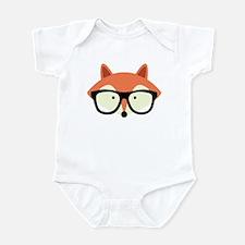 Hipster Red Fox Infant Bodysuit