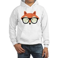 Hipster Red Fox Hoodie