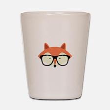 Hipster Red Fox Shot Glass