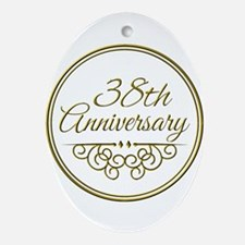 38th Anniversary Ornament (Oval)