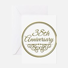 38th Anniversary Greeting Cards