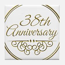 38th Anniversary Tile Coaster