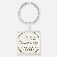 38th Anniversary Keychains