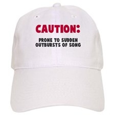 Caution Outbursts of Song Baseball Baseball Cap