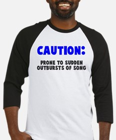 Caution Outbursts of Song Baseball Jersey