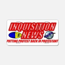 INQUISITION NEWS Aluminum License Plate