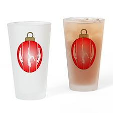 Christmas Pole Dancer Drinking Glass