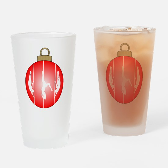 Christmas Pole Dancer Drinking Glass