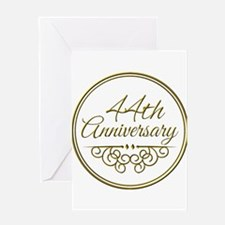 44th Anniversary Greeting Cards