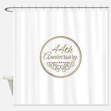 44th Anniversary Shower Curtain