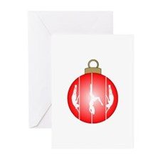 Christmas Pole Dancer Greeting Cards