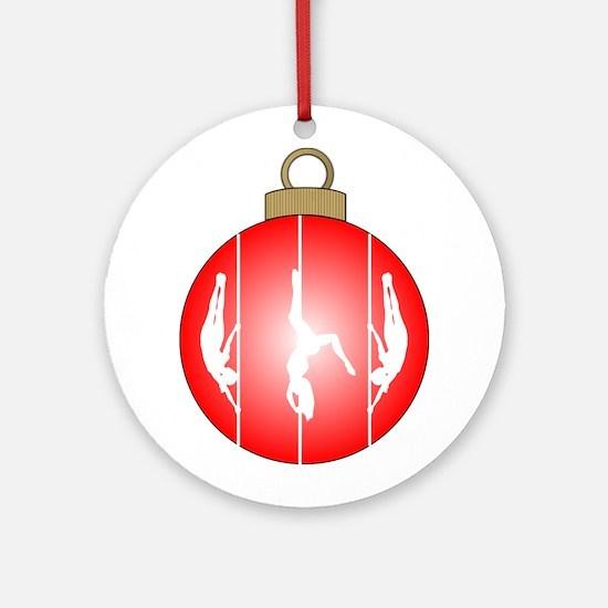 Christmas Pole Dancer Ornament (Round)