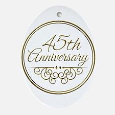 45th Anniversary Ornament (Oval)