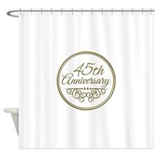45th Anniversary Shower Curtain