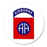 82nd airborne Round Car Magnets