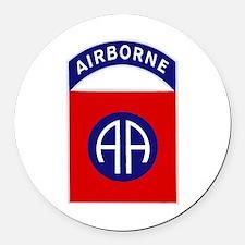 82nd Airborne Round Car Magnet