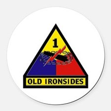 1st Armored Division Round Car Magnet