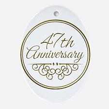47th Anniversary Ornament (Oval)