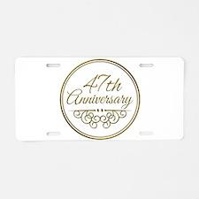47th Anniversary Aluminum License Plate