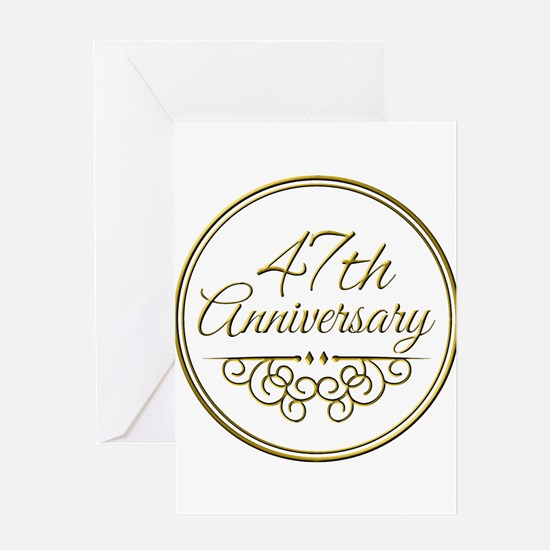 47th Anniversary Greeting Cards