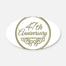 47th Anniversary Oval Car Magnet